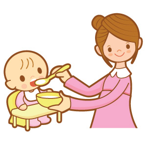 Baby Eating Food Clip Art