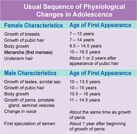usual-sequence-of-physiological-changes-in-adolescence