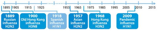 Influenza timeline