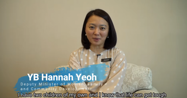 Message from YB Hannah: Spend quality time with your child